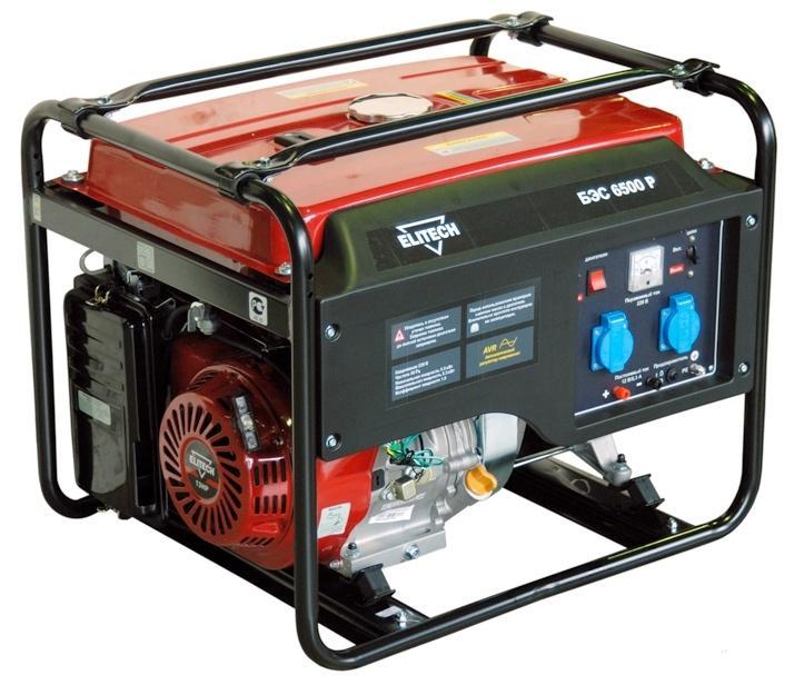 Бензиновый генератор Elitech 6500 P