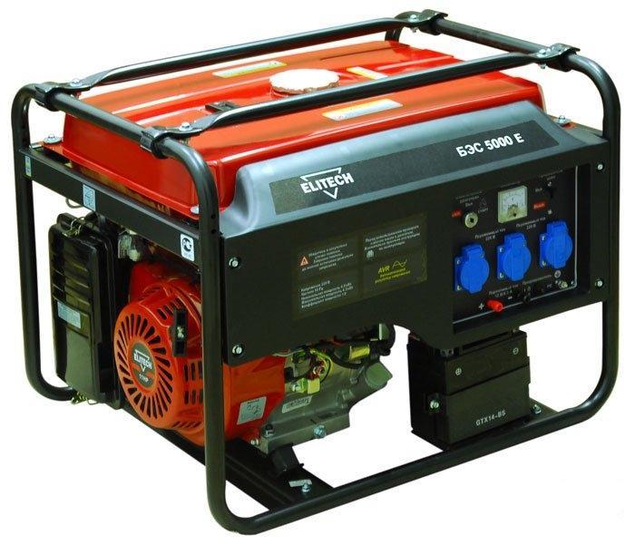 Бензиновый генератор Elitech 5000e