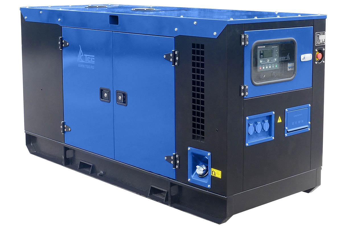 Дизельный генератор ТСС АД-40С-Т400-1РКМ7 в шумозащитном кожухе