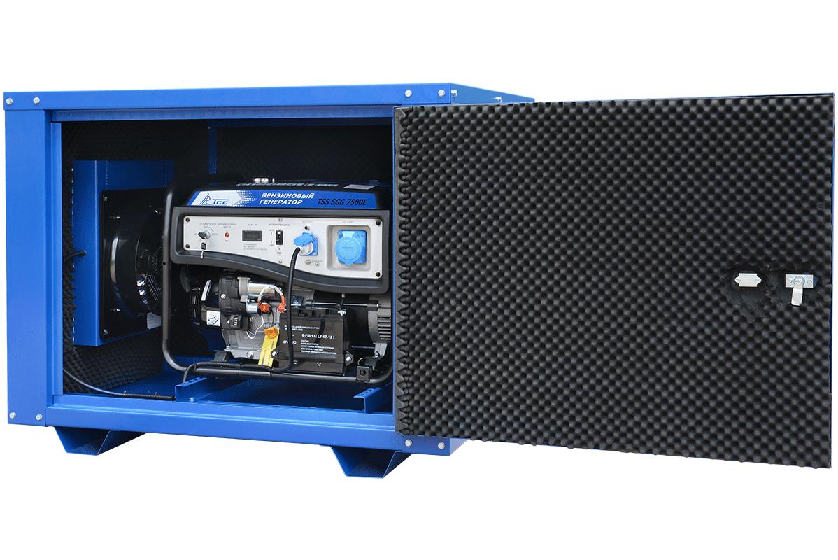 Бензогенератор TSS-SGG-7500Е в кожухе МК-1