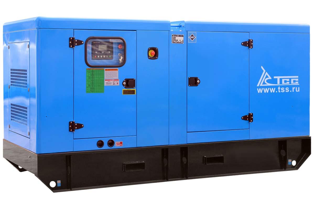 Дизельный генератор ТСС АД-120С-Т400-1РКМ11 в шумозащитном кожухе