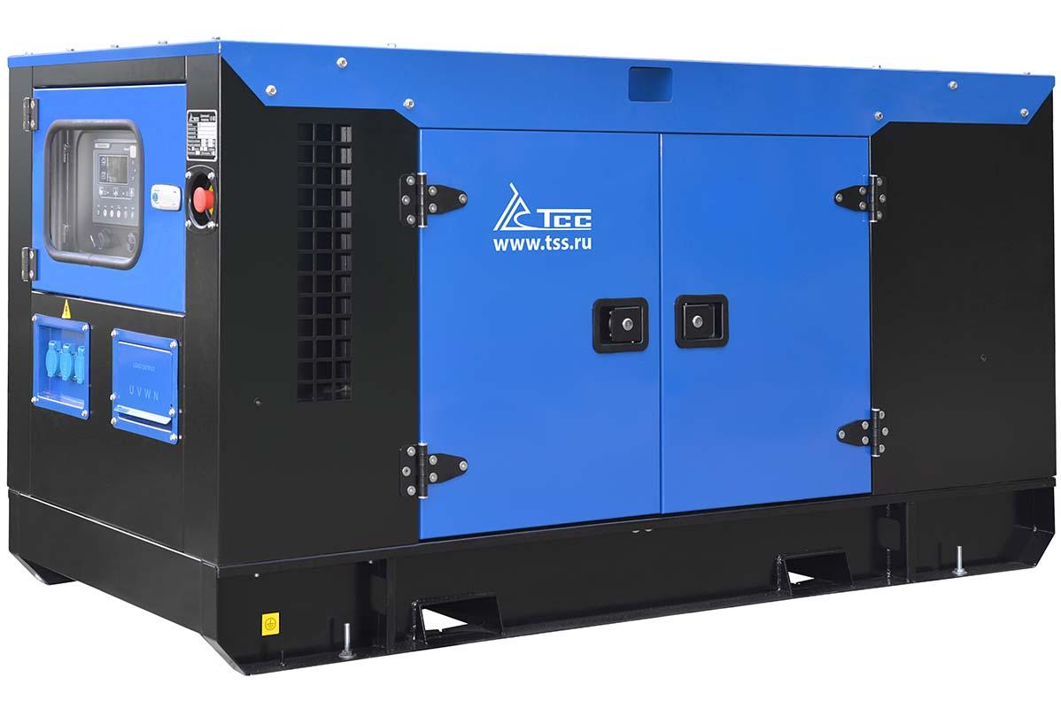 Дизельный генератор ТСС АД-15С-Т400-1РКМ7 в шумозащитном кожухе