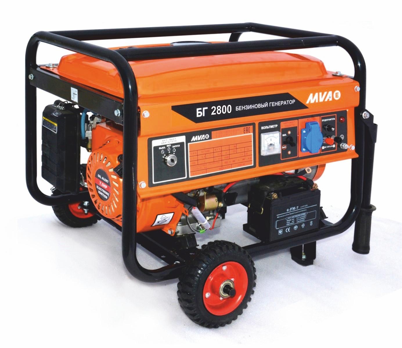 Бензиновый генератор Mvae БГ 2800