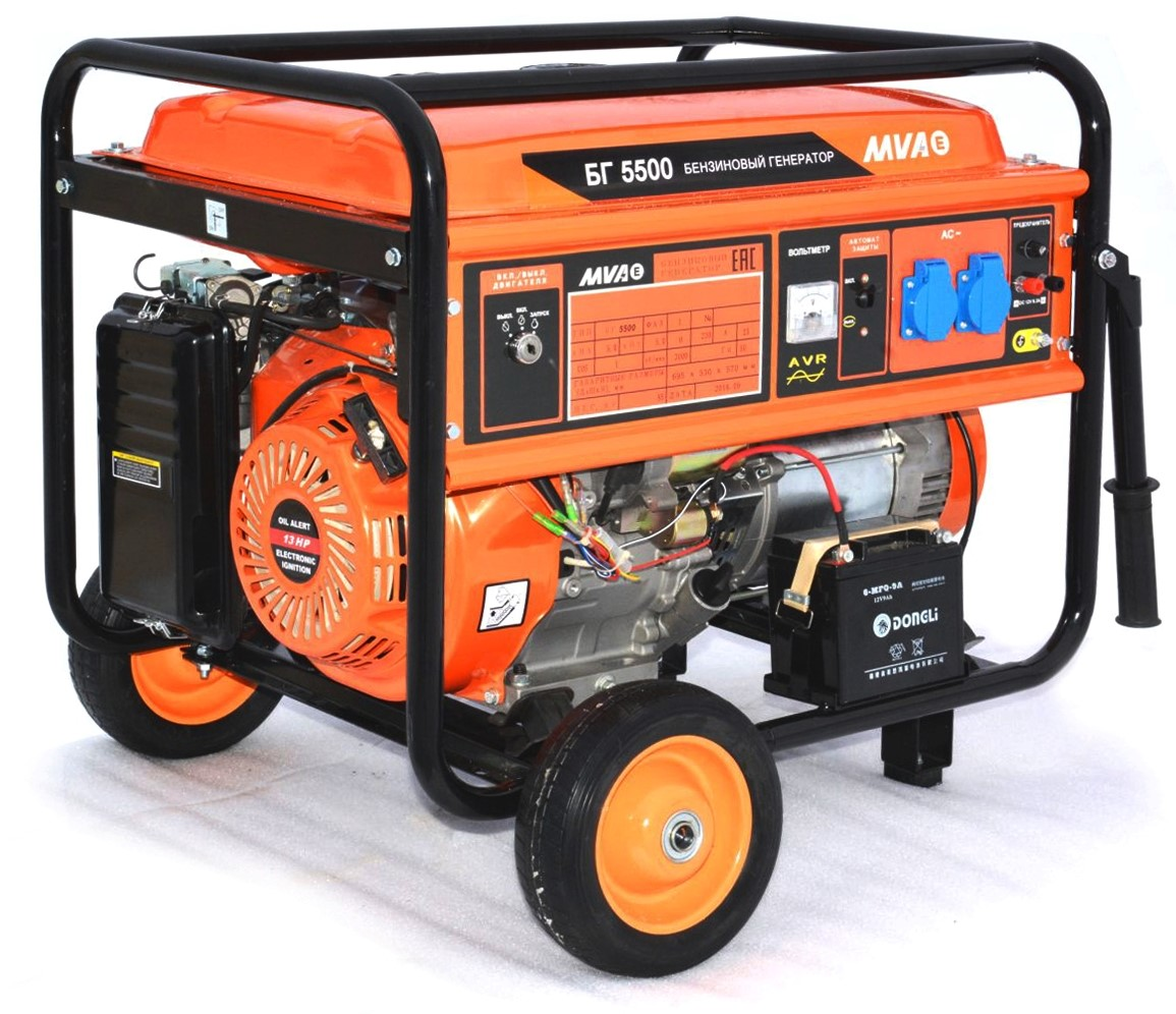 Бензиновый генератор Mvae БГ 5500