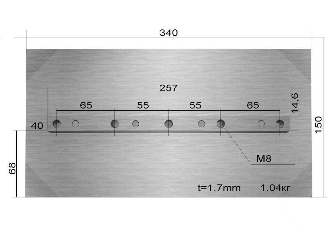 Лопасти для TSS DMD1000 (к-т из 4 лопастей)