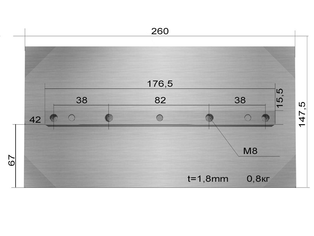 Лопасти 800 для TSS DMD1000 (к-т из 4 лопастей)