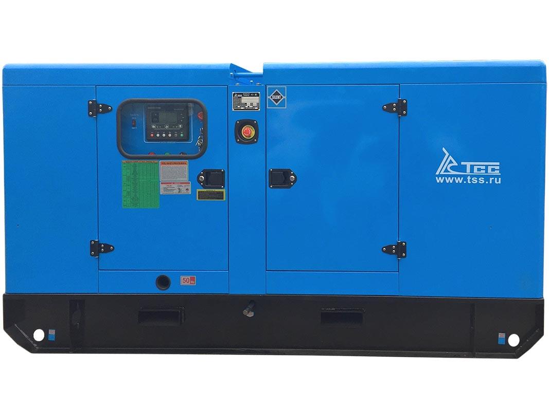 Дизельный генератор ТСС АД-60С-Т400-1РКМ5 в шумозащитном кожухе