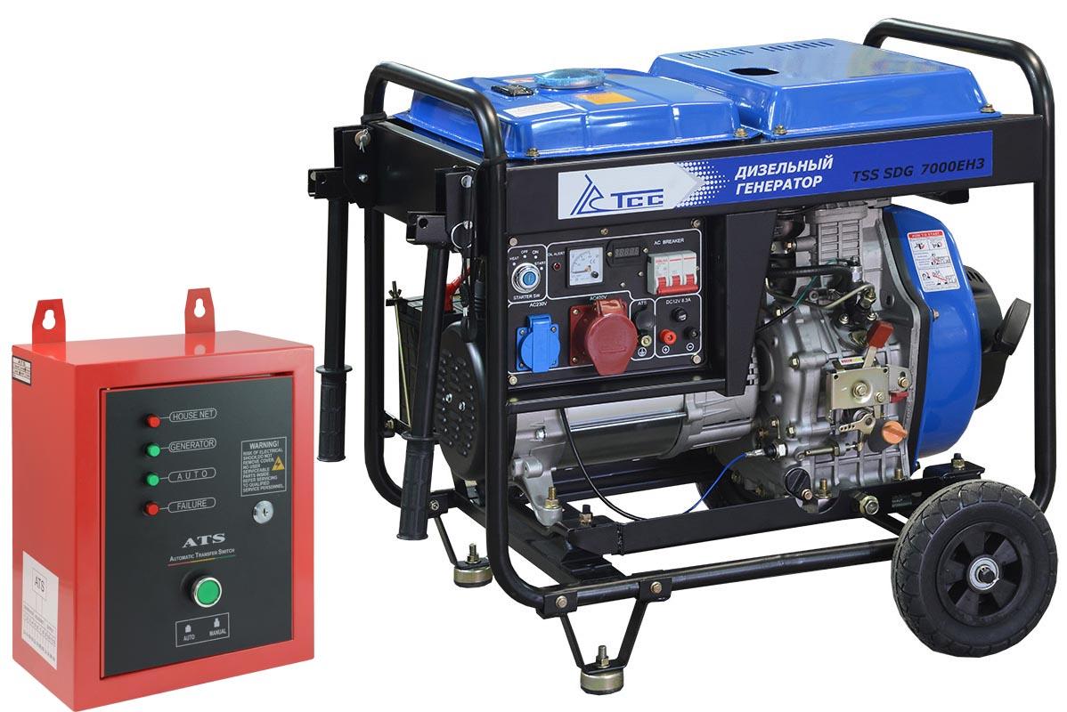 Дизель генератор TSS SDG 7000EH3 с АВР