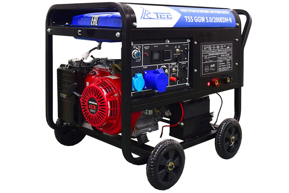Инверторный бензиновый сварочный генератор TSS GGW 5.0/200EDH-R (Honda GX390)