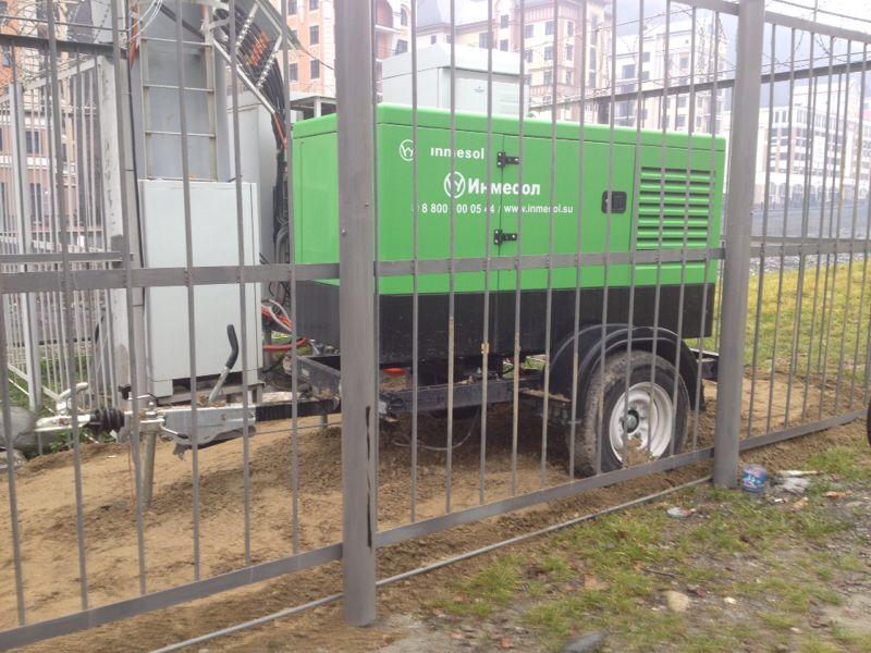 Монтаж мобильной ДГУ 30 кВа для федерального оператора сотовой связи