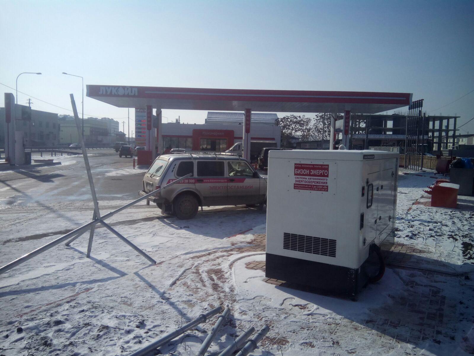 Монтаж генератора HIMOINSA для Лукойл